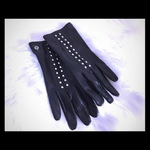 Michael Kors leather driving gloves